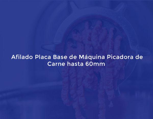 Afilado Placa Base de Máquina Picadora de Carne hasta 60mm