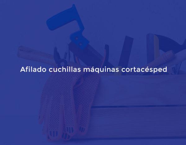 Afilado cuchillas máquinas cortacésped